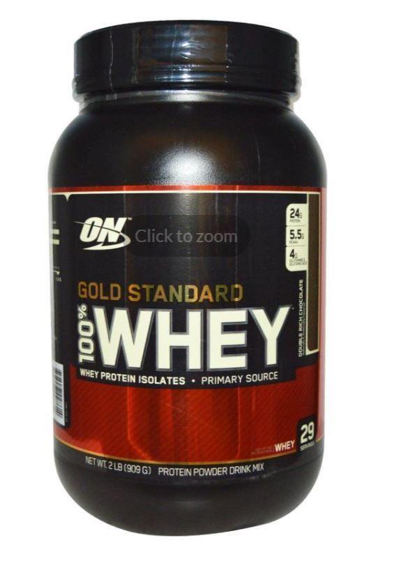 Gold Standard 100% Whey Double Rich Chocolate 2 lb (909 g) Protein Mix Shake #OptimumNutrition