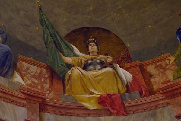 Allegoria dell'Italia e di sette città Italiane