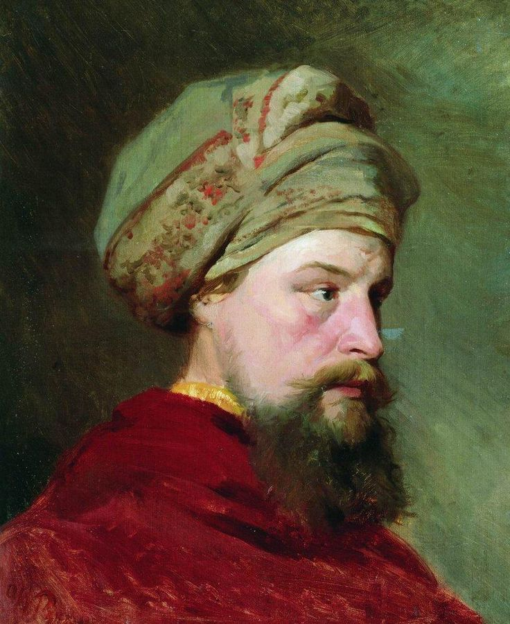 The sitter's head. The second half of the XIX century - Ilya Repin