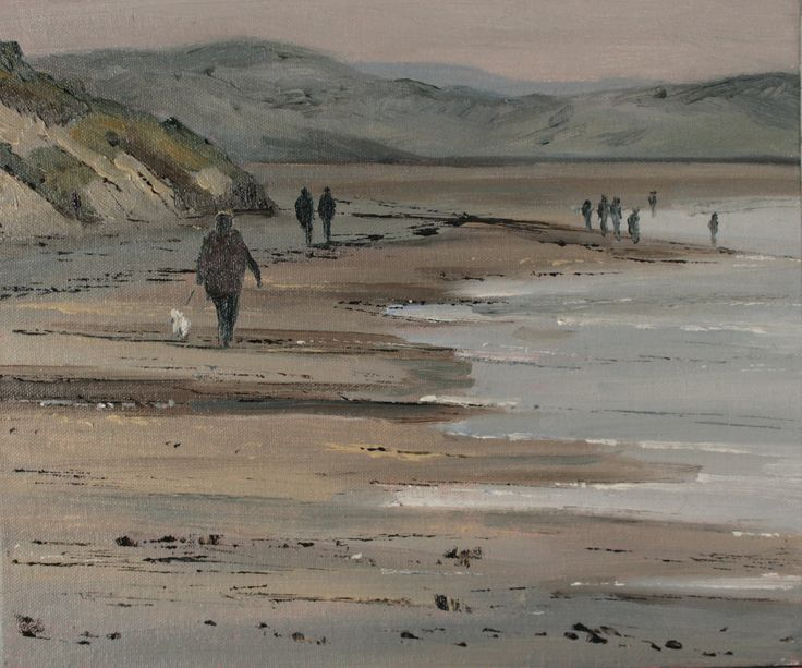 Evening at Murlough Bay, oil on canvas board 12 x 10 in. More at artfinder.com/john-halliday