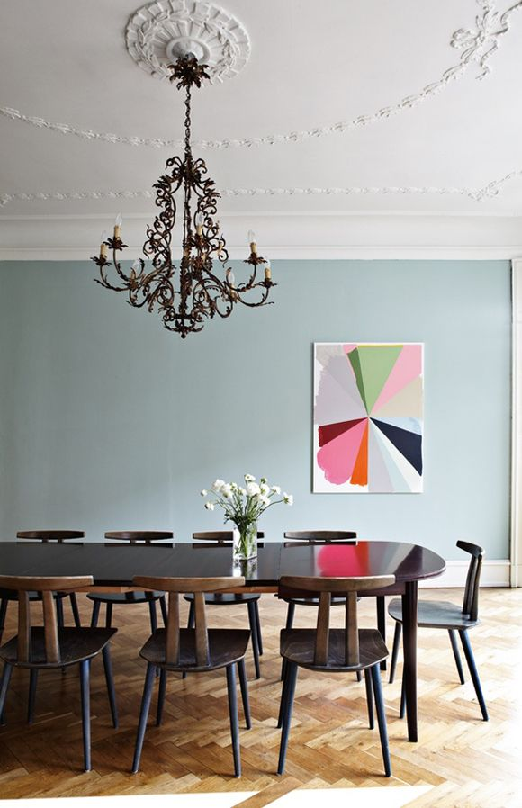 dining room, amazing painting