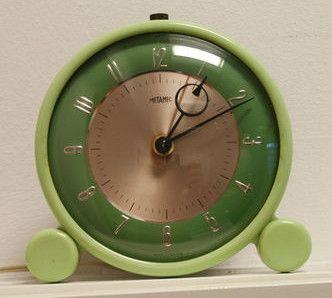 vintage green bakelite clock