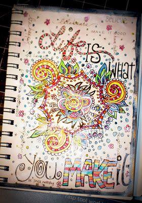 Shimmerz Paints: Journal doodles......   art journaling #design #inspiration