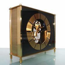 KIENINGER KUNDO Mantel TOP Clock 6 Jewels! TRANSLUCENT Vintage RARE German Shelf