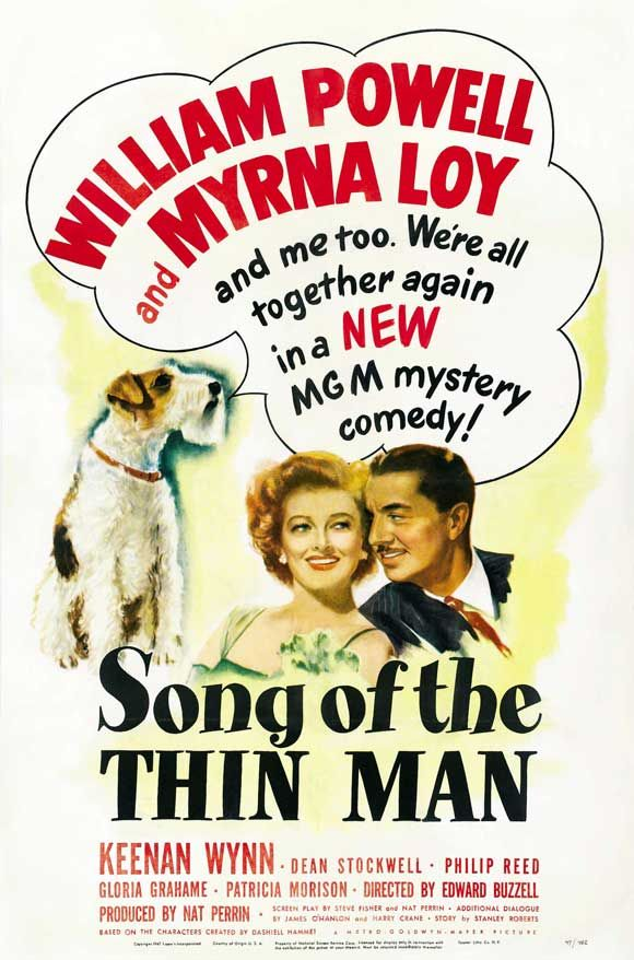 Song of The Thin Man - stars William Powell, Myrna Loy, LOVE The Thin Man series of movies. All those cocktails and smokes, lol