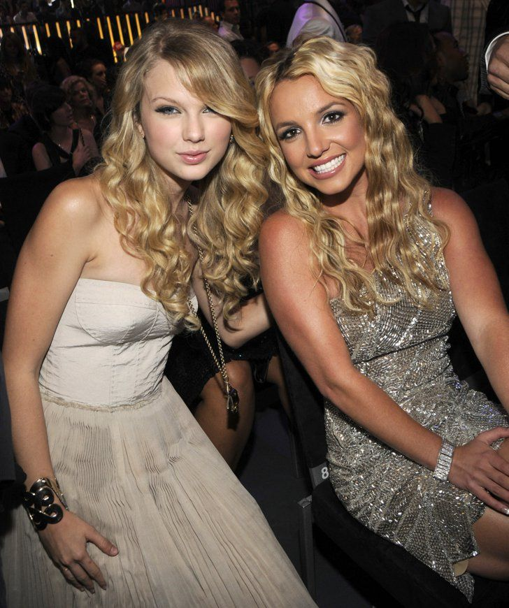 Pin for Later: Take a Nostalgic Look Back at Taylor Swift's VMAs Evolution Oh, and She Also Got to Hang Out With Britney Spears What a combination!