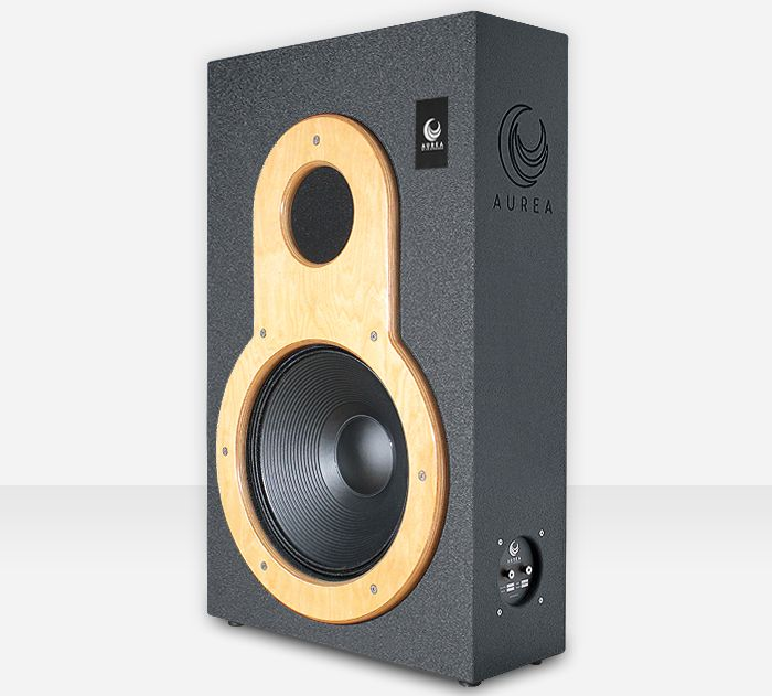 """Aurea 18 - Our passive subwoofer speaker features a 18"""" inch component to achieve the power and impact of modern soundtrack bass lines, reaching 20Hz. #Loudspeakers #Soundsystem #Performance #HomeCinema #Audio"""