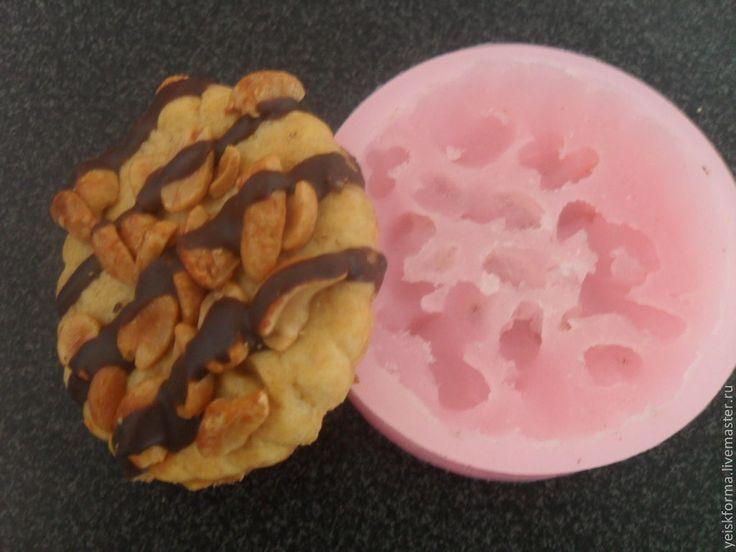"""Купить Силиконовая форма""""Печенье с орешками"""" - форма для мыла, силиконовая форма, формы для мыла"""