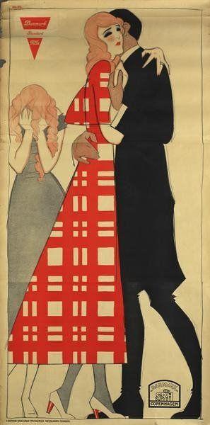Sven Brasch, Danish Film Poster, 1918