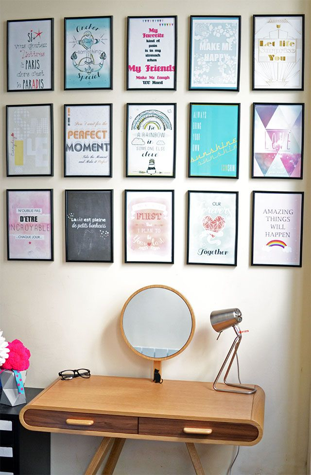 La vie chez les like that paris amour et d coration - Mur de cadres decoration ...