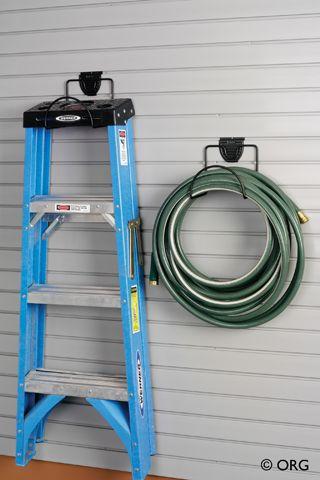 Hoop hooks hold bulky gardening items like hoses and keep them tangle-free.