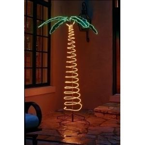 Roman 7' Deluxe Tropical Lighted Holographic Rope Light Outdoor Palm Tree Decoration