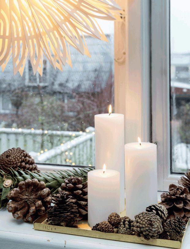 Lumière de Noël || Bougies de Noël chez Lisbeth Assenholt
