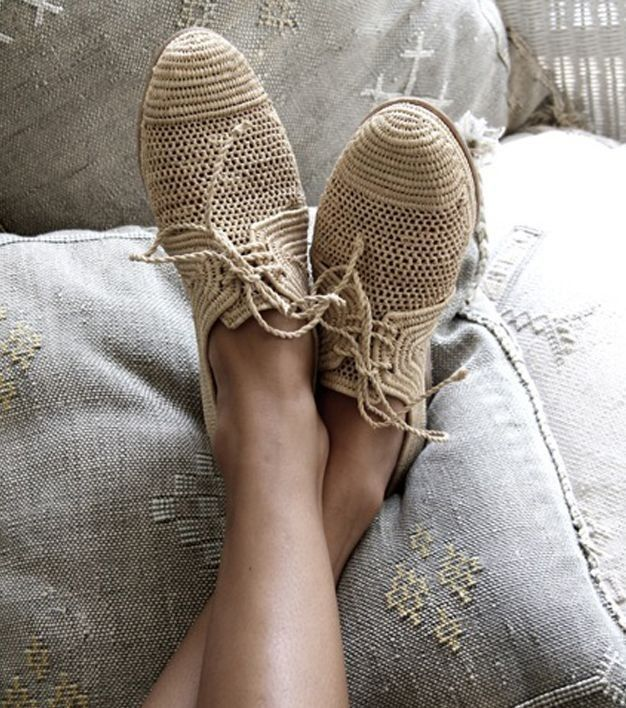 MARRAKECH BROGUE - NATURAL RAFIA CHIC