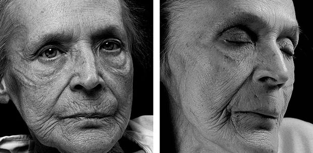 Portraits of individuals directly before and after death. This project was conceived as a way to overcome the photographer's fear of death.