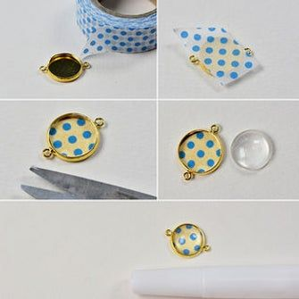 How to Make Beautiful Glass Cabochon Bracelet With Pearl