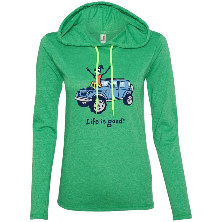 V-sign jeep Hoodie – Life Is Good