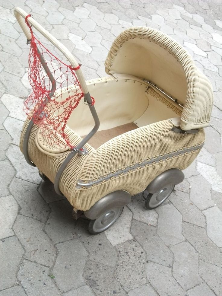 Puppenwagen Korbkinderwagen ca. 50er Jahre * Vintage * | Antiquitäten & Kunst, Antikspielzeug, Puppen & Zubehör | eBay!