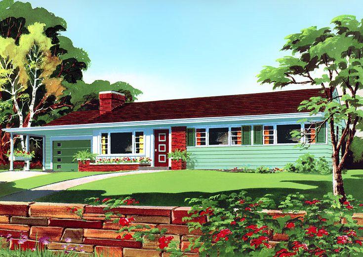 Roger Wilkerson, The Suburban Legend! — Suburban Home ...  1950s Suburban Homes