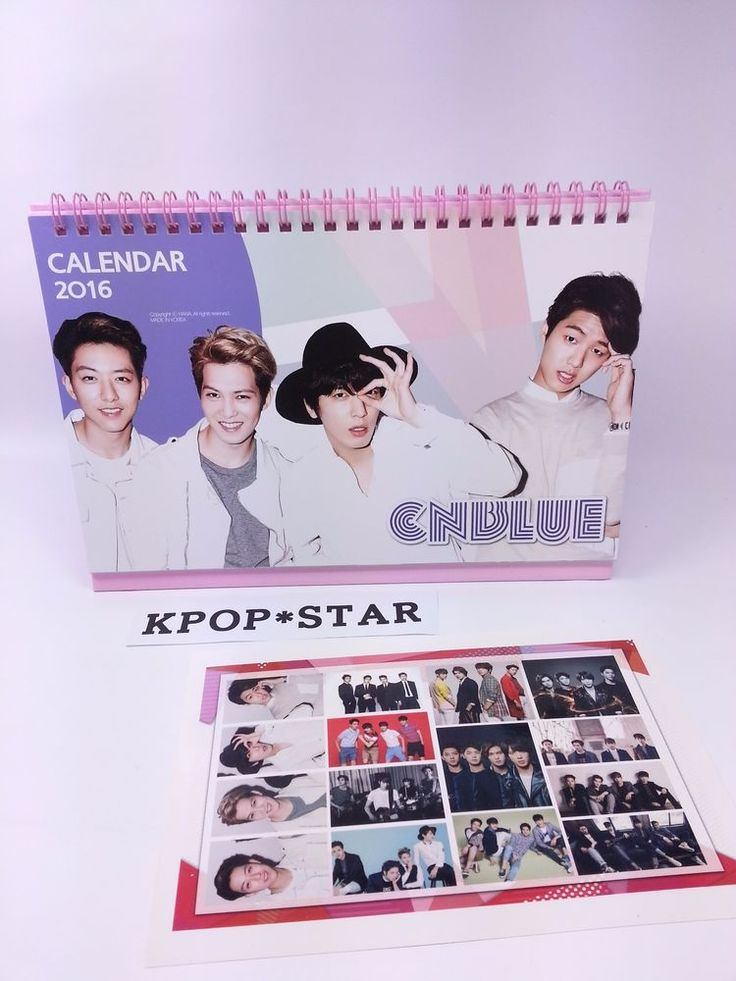 CNBLUE Photo 2016 2017 Desk Calendar (with Sticker) CN Blue Calender New Year Kp