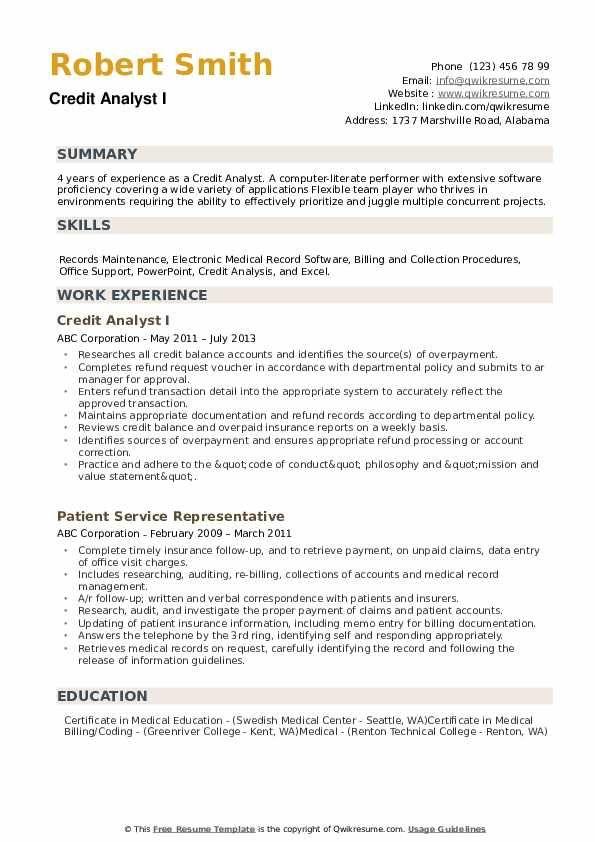 Credit Analyst Resume Samples Qwikresume Image Result For Resume Good Resume Examples Job Resume Examples Resume Examples
