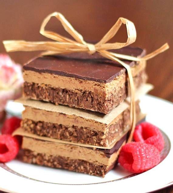 Guilt-Free Nanaimo Bars -- low fat, low sugar, gluten free and vegan!