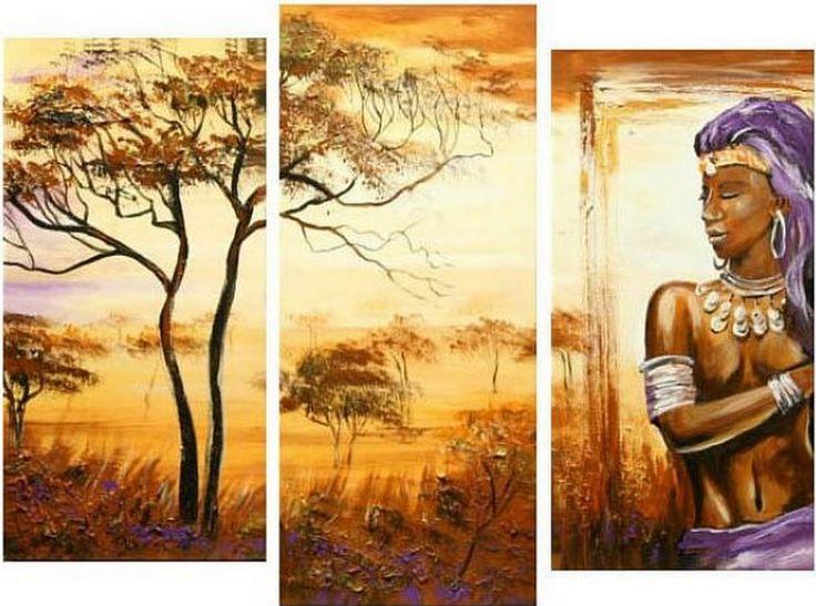 Negras Africanas Pintadas   Pinturas al Óleo