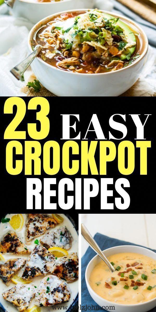 30 Quick Easy Crock Pot Meals You Can T Resist Juelzjohn Crockpot Recipes Easy Potluck Recipes Crockpot Easy Crockpot
