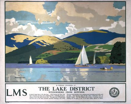 The Lake District by Norman Wilkinson, for the London Midland and Scottish Railway, circa 1923