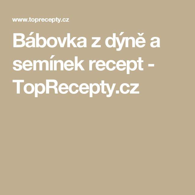 Bábovka z dýně a semínek recept - TopRecepty.cz