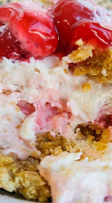 No-Bake Cherry Cheesecake Fluff