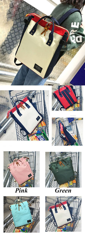 Which color do you like? Unique Multifunction Handbag Backpack Unisex Lovers Square Large Canvas Laptop Backpack #unique #school #canvas #bag #backpack #handbag