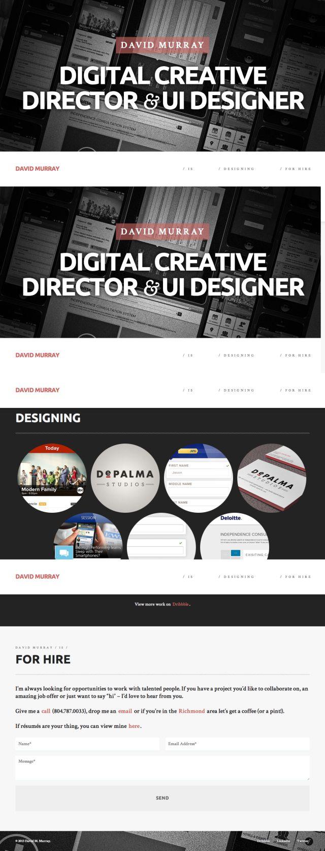 5組優秀單頁式設計作品集網站 - ㄇㄞˋ點子靈感創意誌