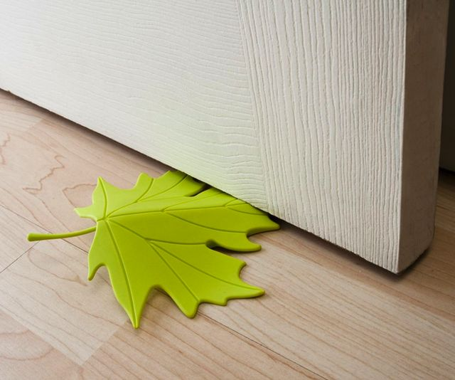 Leaf door stopper, so cute. Better looking than those brown block looking door stoppers.