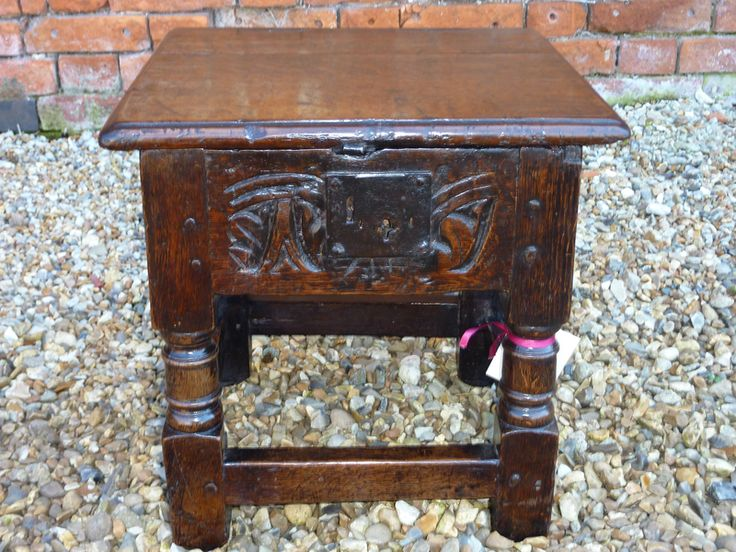Holt Antique Furniture Ltd A   Fine And Rare Mid Century English Antique  Oak Box Stool / Joint Stool   Sourced And Sold By Us