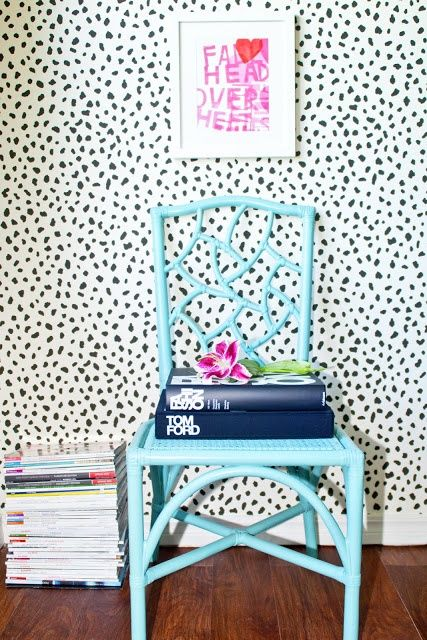 Love That Color Of Blue And The Wallpaper, But Probably For Only One Ideas