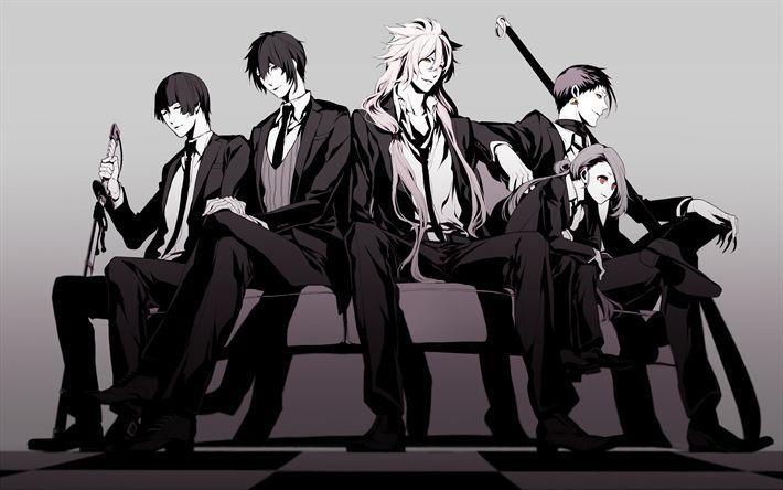 Indir duvar kağıdı Touken Ranbu, tarayıcı tabanlı online oyun, tüm karakterler, anime gençler, çocuklar