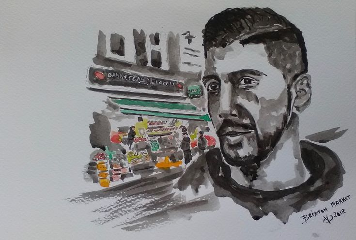 Brixton Market Seller-london #quentin #quentinverhaegen #portrait #aquarelle #watercolour #watercolor #face #couleur #portraitaquarelle #watercolourportrait #watercolorportrait #painting #peintureaquarelle #waterclourpainting #ink #encredechineportrait