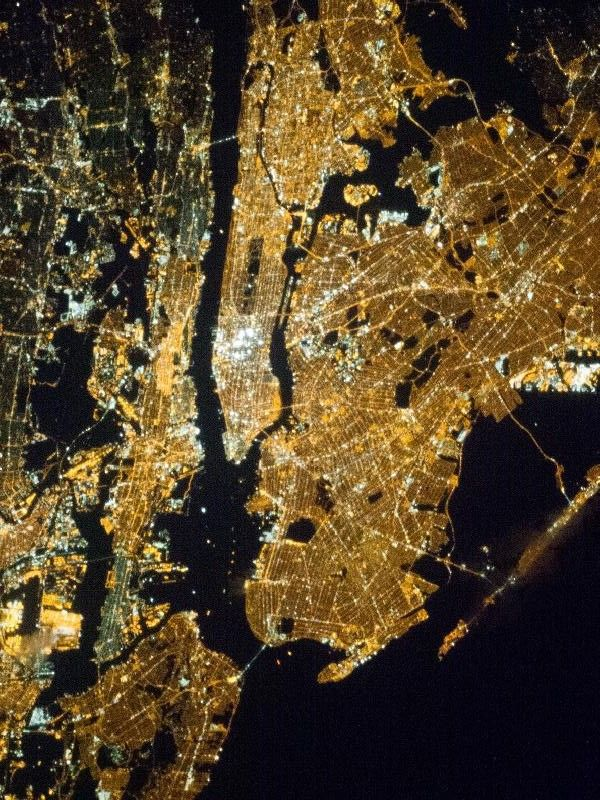 New York from above: a view from the Space Station.