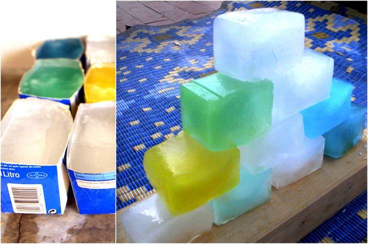 Juego de construcción con bloques de hielo