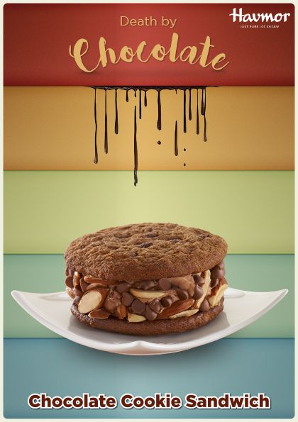 Give in to the richness of a chunky Chocolate Cookie Sandwich & accept your #DeathByChocolate!