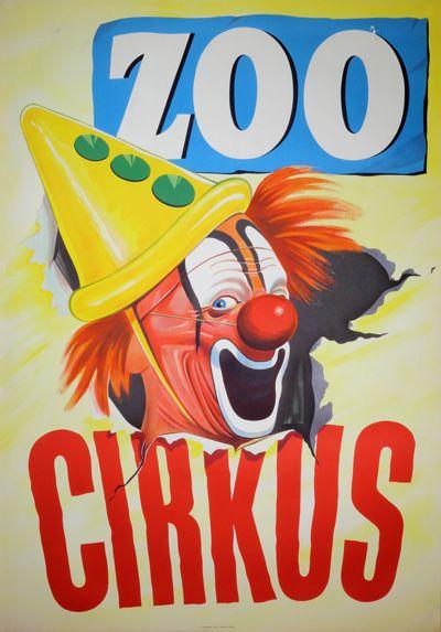 Vintage poster:      Zoo Cirkus