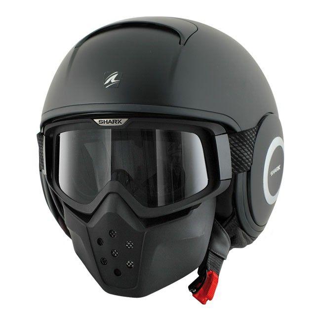 Casque shark RAW noir mat, promo casque prix promo Casque de Moto Cdiscount pas cher 220.90 €