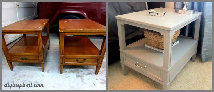 Refurbished Night Stands Before and After