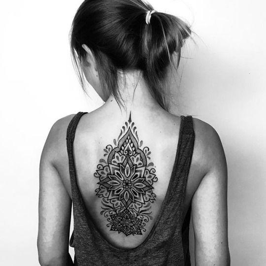 Mandala back tattoo                                                                                                                                                                                 More
