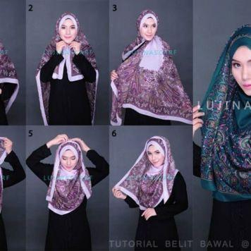 hijab tutorial ,لفات طرح جميلة وطويلة