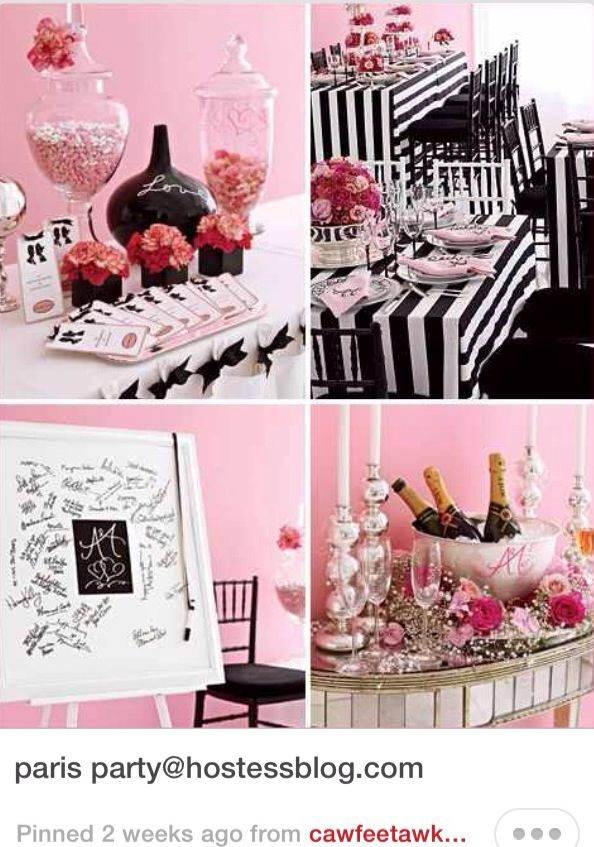 Parisian Theme 13th Birthday Party A Collection Of