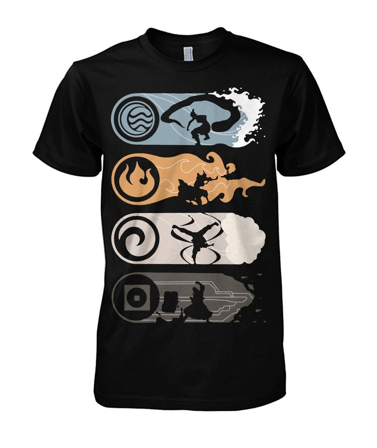Elements shirt avatar the last airbender legend of korra
