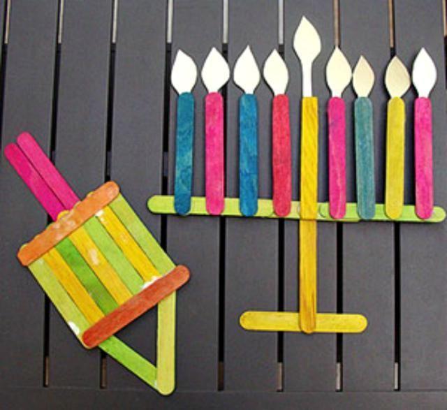 8 Hanukkah Kids Crafts: Popsicle Stick Decorations