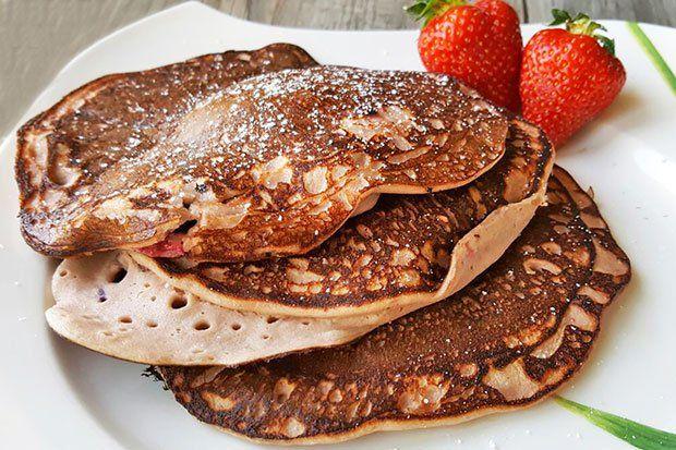 Bananen-Pancakes mit Topfen - Rezept   GuteKueche.at